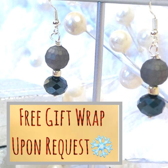 Frontrow.style Jewelry - Sterling Silver Earrings Matte Grey Crystal